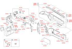 Táp lô chính xe khách Hyundai Universe