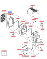 Bầu giảm âm bô xả Hyundai HD700, HD1000, 286507M110